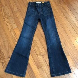 EUC Pilcro dark flare jeans superscript fit
